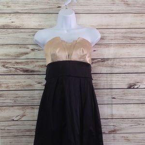 Trixxi Tan Black Mini Cocktail Formal Dress